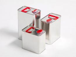 Square packaging for chemical products